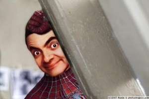 normal mr  bean spiderman 300x200 LA VERDADERA HISTORIA DE SPIDERMAN‏