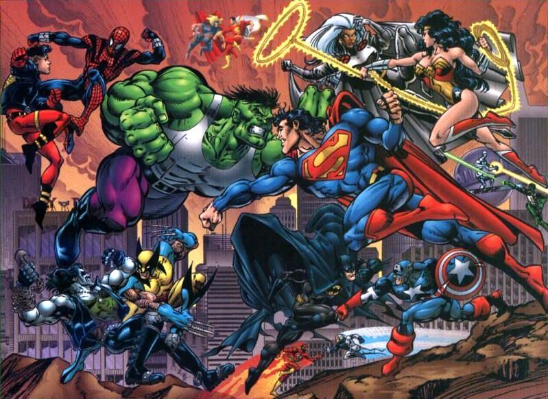 dc vs marvel 300x218 SUPERHÉROES MARVEL VS. SUPERHÉROES DC: ¿QUIÉN ...