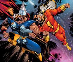 thorvscaptainmarvel SUPERHÉROES MARVEL VS. SUPERHÉROES DC: ¿QUIÉN GANARÍA CONTRA QUIÉN?