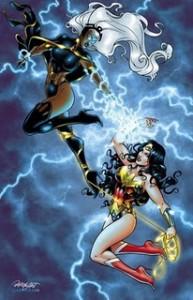 wonder woman vs storm inks01 193x300 SUPERHÉROES MARVEL VS. SUPERHÉROES DC: ¿QUIÉN GANARÍA CONTRA QUIÉN?