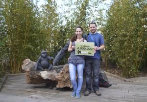 Joanna-Lee y Nikolas - de Sheffield UK a África - visitante 4 millones de BIOPARC Valencia